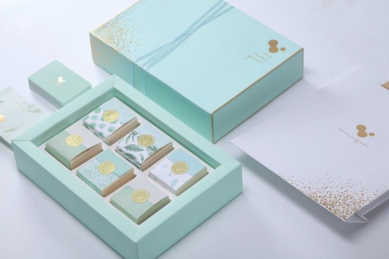 一抹綠手工皂│手工皂禮盒六入組