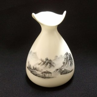 Hand painted small vase - landscape