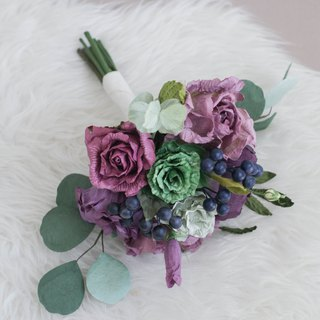Deep Purple Mini Flower Bouquet