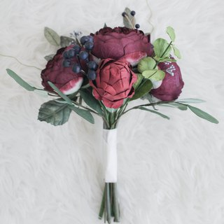Wild Burgundy Mini Flower Bouquet