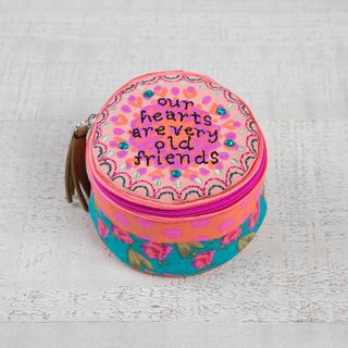 Embroidered Jewelry Box-Our Heart Friends│BAG213