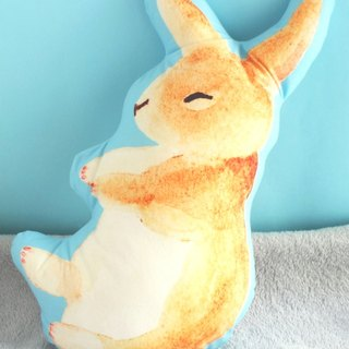 Rabbit Plush Pillow/ Bunny print double sided cushion/animal cute toy