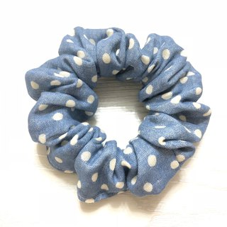 Japanese double yarn. Cute little. Blue / large intestine circle hair bundle. Donut hair bundle. Hair ring