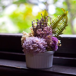 [迷漾]Dry flower pot planting / / arranging small objects / / purple