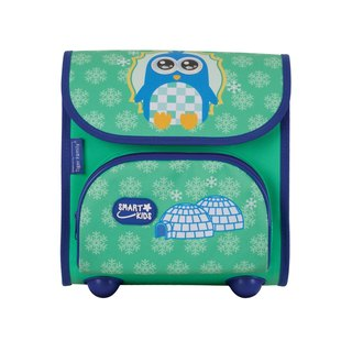 Tiger Family Nursery Schoolbag - Green Penguin + [Gifts] Boxed 2B Large Triangle Pencil (6 Pack)