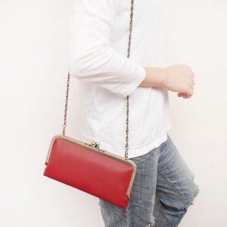 Royal Love Lychee shoulder bag gold shoulder bag / long clip / mobile phone package [Made in Taiwan]