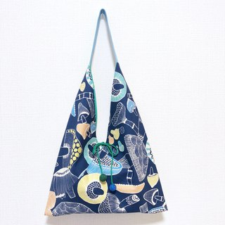 Japanese-style skull-shaped side bag / large size / color jellyfish