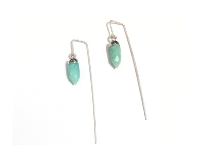 Style Earrings with Aquamarine