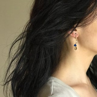 Blue Rose  clip-on/pierced earrings