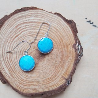 Dangle Turquoise Earrings | Able to change into clip on