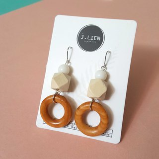 Building block toy ear pin / ear clip handmade earrings