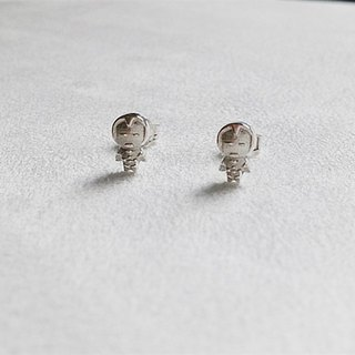 Robot/Earrings/Iron Man/Sterling Silver/By hand【ZHÀO】SZE1635