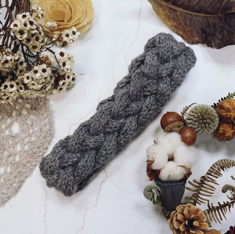 Handmade - Forest Department - wool hand braided hair band