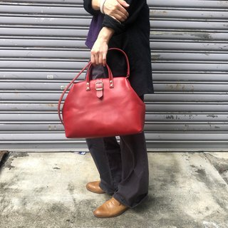 Red 鞣 鞣 basic section gold doctor bag Size medium / cross-body bag / handbag