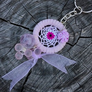 3 Dream Lavender Light Natural Stone Dreamcatcher Charm