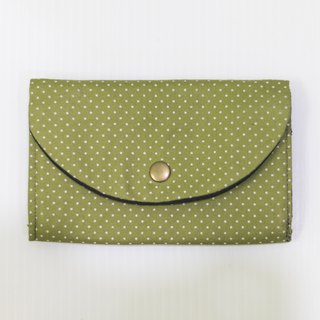 S, HU - Second Edition Small Block Multi-layer Coin Purse (Green Dot)