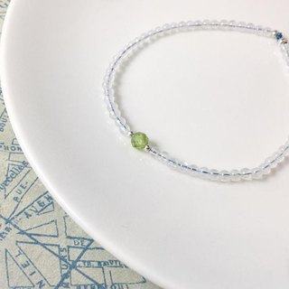 MH sterling silver birthstone series_August birthstone_Olivine