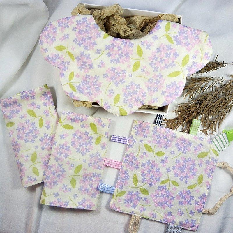 彌月禮盒三件組 / 繡球花海 (附禮盒)