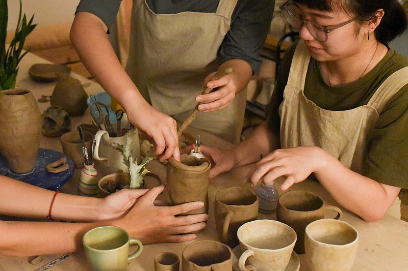 【ワークショップ】[Experience] October and November hand-made utensils / pottery workshop. Hand-made pottery experience. Art Guandu