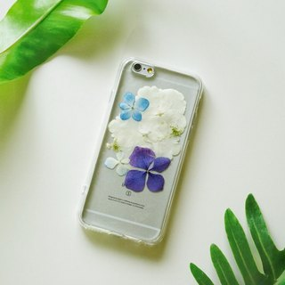 Pressed Flowers Phone Cases - Hydrangea Collection for iphone 5/5s/SE/6/6s/6 plus/6s plus/7/7plus/Samsung S4/S5/S6/S6Edge/S7/S7Edge/Note3/Note4/Note5