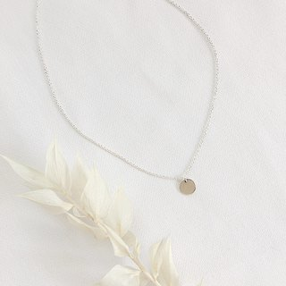 Minimalist Planet Clavicle S925 Sterling Silver Necklace Antiallergy