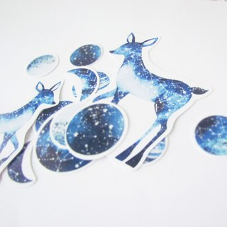 Planet deer sticker set