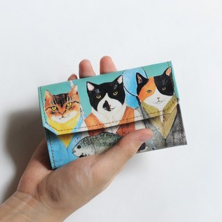 Handmade Paper Purse - Cat friends