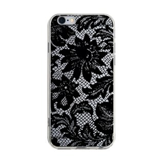 Black Large Lace iPhone X 8 7 6s Plus 5s Samsung S7 S8 S9 Mobile Shell