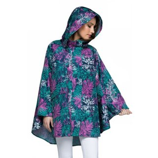 November Rain waterproof poncho - Rainforest