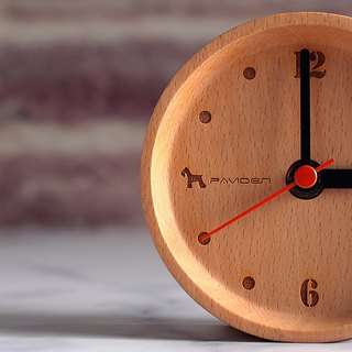 Reyana round table clock (wood color) beech