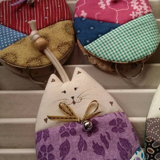 Cute cat key case