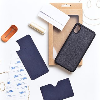 Leather 手机 mobile phone case kit iPhoneX iPhone 8Plus Italian leather free engraved name