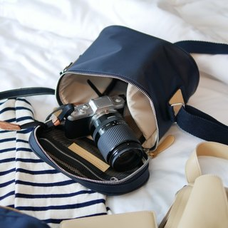 KIT - Bucket bag for mirrorless camera (Midnight blue) 相机包  GIFT !