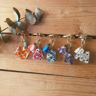 Dry flower key ring