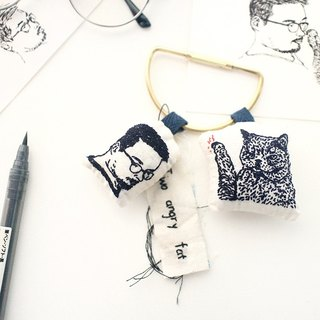 Hand stitching pet key pendant [custom only] | Sako Studio