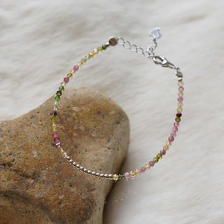Tourmaline Silver 925 Bracelet with Linear Memory Alloy