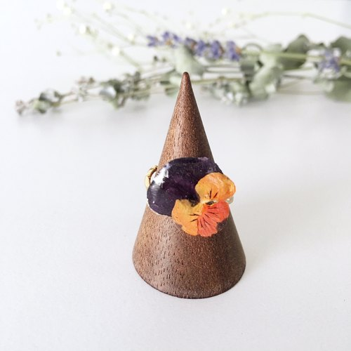 Purple and Orange color of Viola Ring for free size