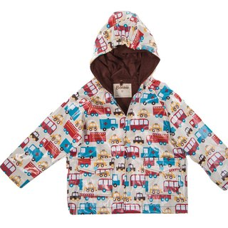 Windproof Waterproof breathable printing warm wind raincoat jacket <handsome feeding car>