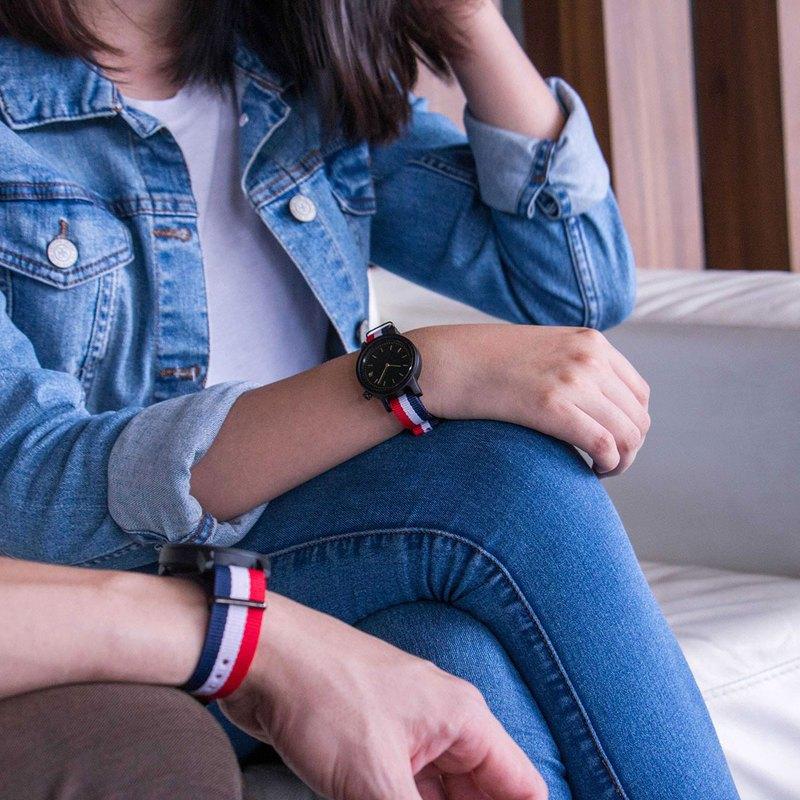 PRIME 1.0.0 烏木木手錶 - 34mm 三色表帶