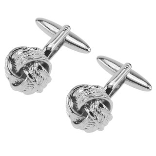 Silver Rope Knot Cufflinks
