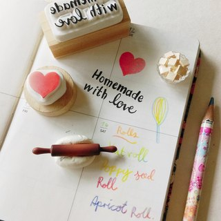 Homemade with love and heart ♥ Rubber stamp hand carved