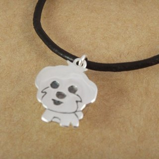 AMCA AN Ke hand-made silver necklace - pet ashes _ Maltese