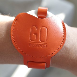 GOstrap- sun orange leather bracelet key -GOGORO