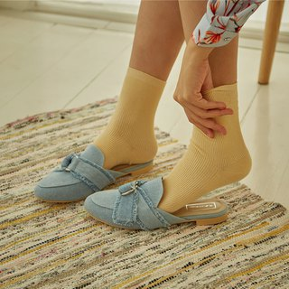 Morning Mules - Blue Denim