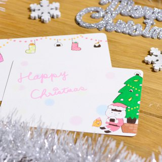 Rice ball Christmas card tree ver