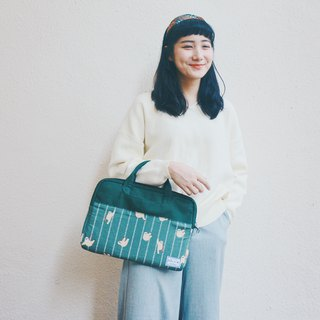 Green sloth - color matching cloth laptop bag (13-14 吋) / 815a.m