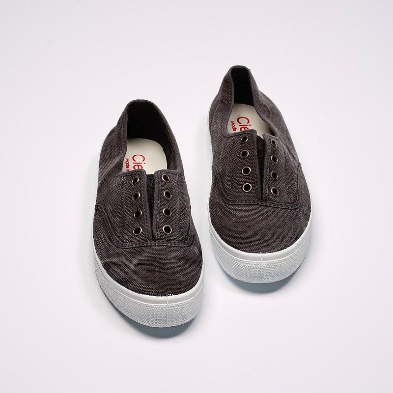 西班牙國民帆布鞋 CIENTA 10777 01 黑色 洗舊布料 大人