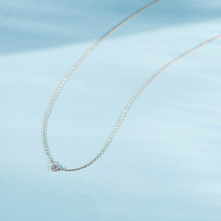 K18YG×Diamond 0.06ct  / Pleine Lune -Necklace-