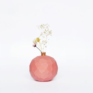 Handcrafted Ceramic Pomegranate Vase -Coral Pink