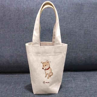 Shiba Inu - Question Mark---Taiwan Cotton Sack - Wenchuang Shiba Inu - Environmental Protection - Beverage Bag - Fly Planet